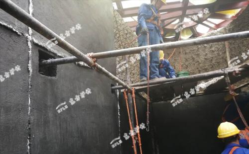 锅炉用耐火浇注料施工