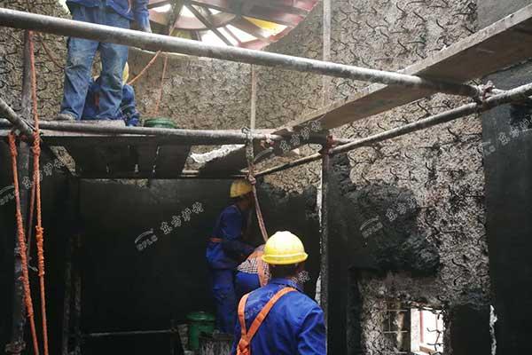 锅炉浇注料施工