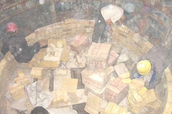 炉底工作层砌筑施工
